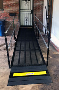 The Birmingham, AL team traveled Midfield, AL in order to install this ramp to the entrance of a customers home.