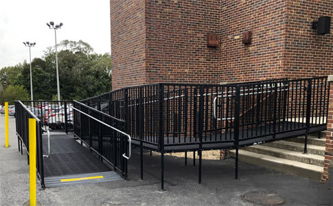Our Long Island, NY team traveled to Wantagh, NH to install this pro commercial ramp.