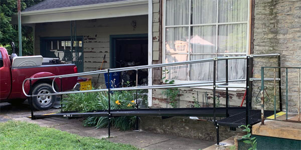 Amramp of Huntington, Indiana installed this ramp for a customer located in Richmond, IN