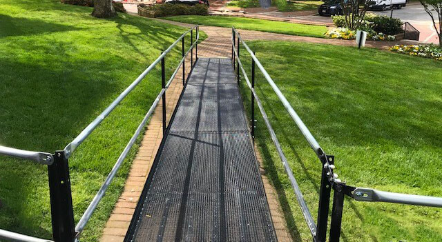 Amramp of DC/Maryland recently traveled to State Circle in Annapolis, MD in order to install a variety of different styles of ramps in order to make the area accessible and safe