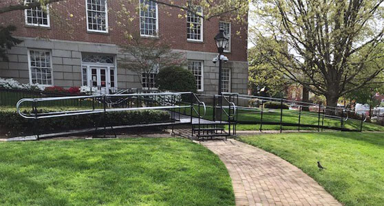 Amramp of Maryland recently traveled to State Circle in Annapolis, MD in order to install a variety of different styles of ramps in order to make the area accessible and safe