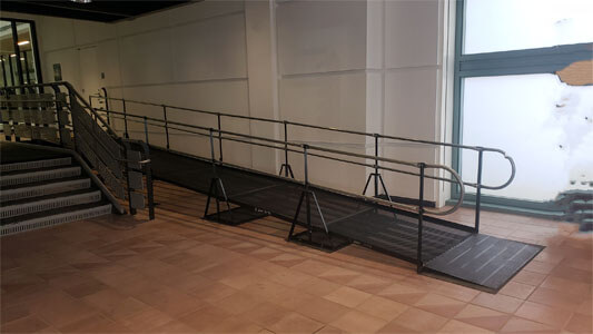 Amramp of Chicago, IL recently installed this temporary ramp also located in Chicago, IL