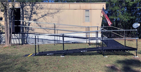 The Birmingham, AL team installed this ramp at a customers home in Tuscaloosa, AL