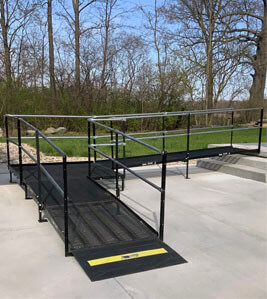 Our Huntington, IN team recently assembled this wheelchair ramp at a customers residence in Yorktown, IN