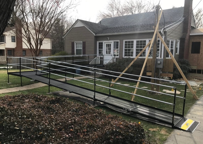 This client was hundreds of miles away in Fairfax, Northern VA but with the effective use of texts, emails, and the Amramp evaluation app the work was done prior to the client returning home. Greg Lazzaroni and his installation crew completed the installation in just one day.