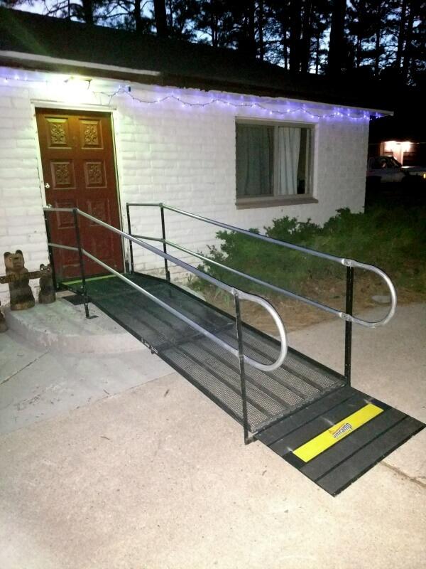 This wheelchair ramp was installed in Flagstaff, AZ by the Amramp Utah team.