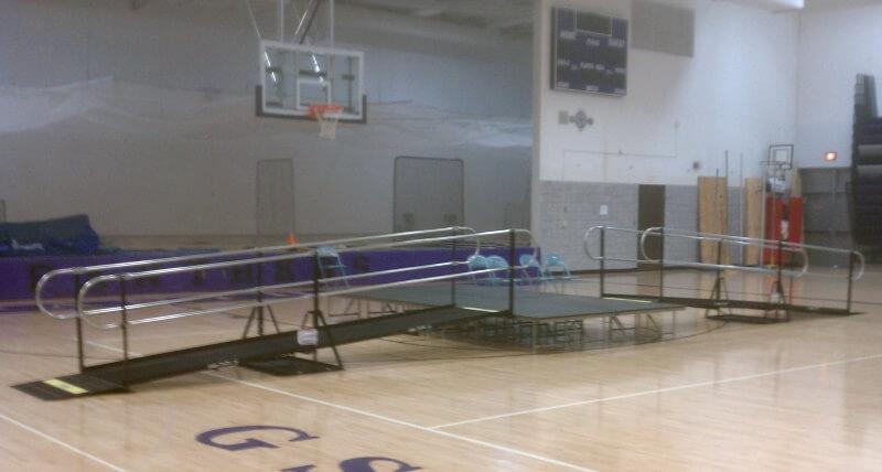 Amramp of Minnesota installed these ramps for Glencoe Silver Lake School in Glencoe, MN.