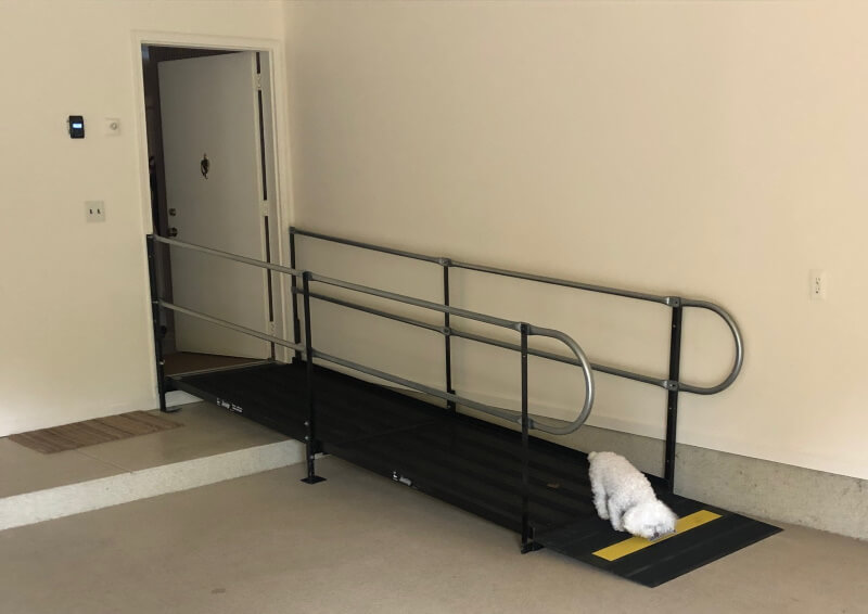 The Amramp Western Michigan team installed this wheelchair ramp in two hours in Grand Rapids, MI.