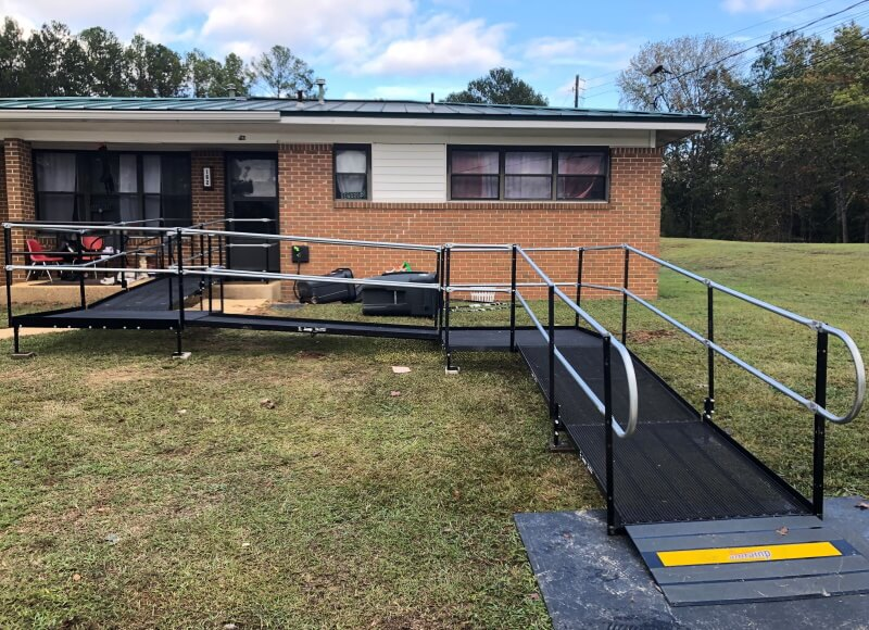 The Amramp Birmingham team installed this wheelchair ramp in Hamilton, AL.