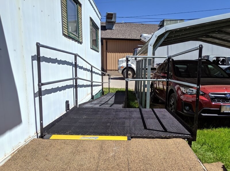 The Amramp Denver team traveled two states to Hill City, South Dakota to install this client's wheelchair ramp.