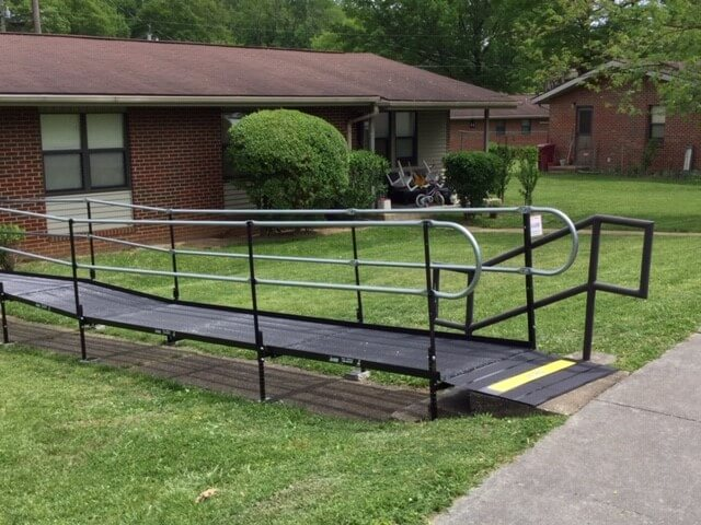 Dave Taylor and the Amramp East Tennessee team installed this ramp in Johnson, TN for the Johnson City Housing Authority.