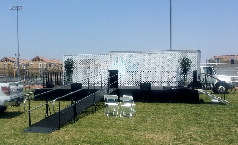 Jordon High School in Los Angeles turned to Amramp LA for a graduation ramp.