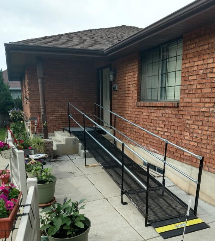 This home in Kaysville, UT now has a wheelchair ramp thanks to the Amramp Utah team.