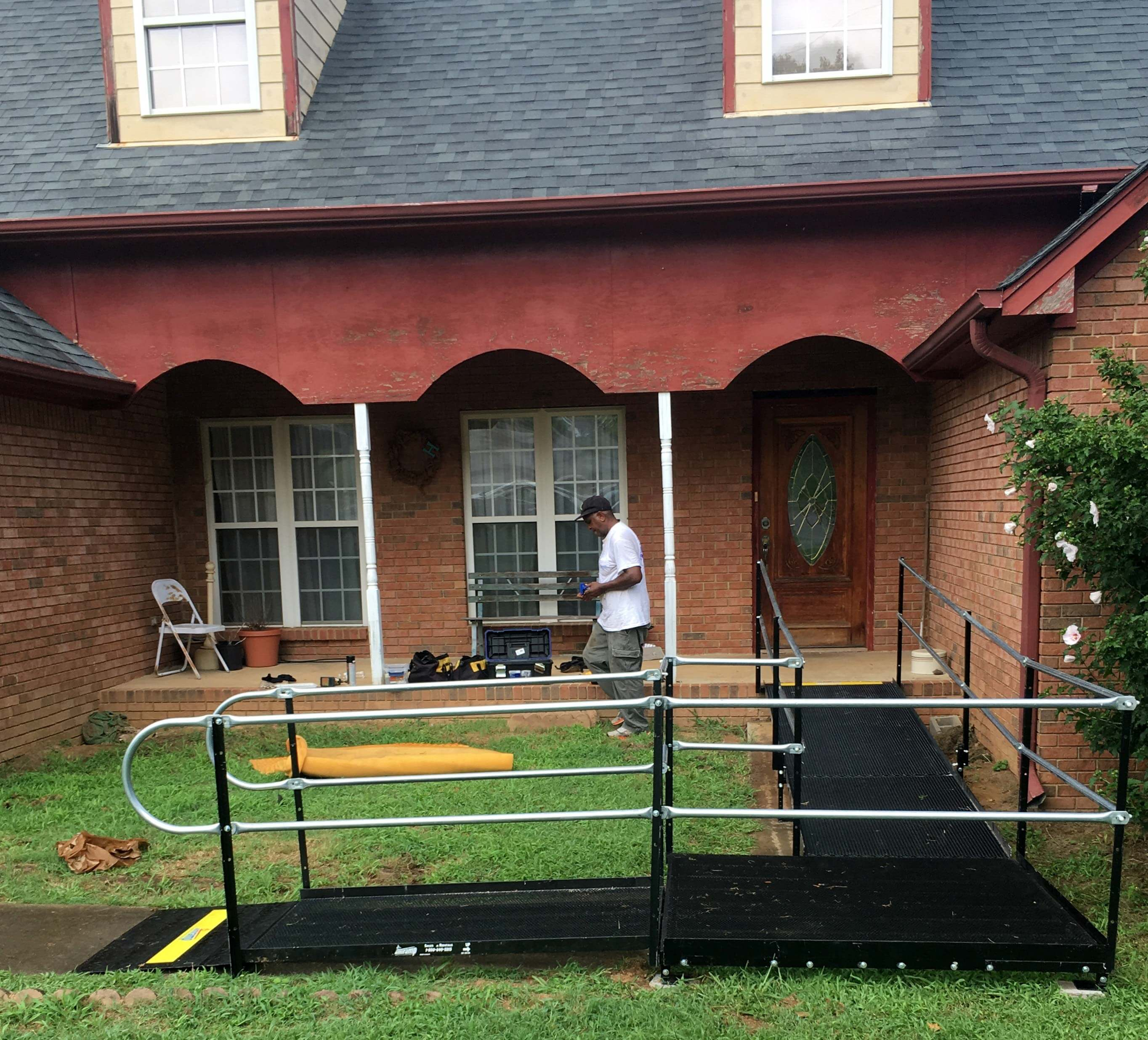 John Cochran and the Amramp Birmingham team installed this wheelchair ramp in Kimberly, AL.