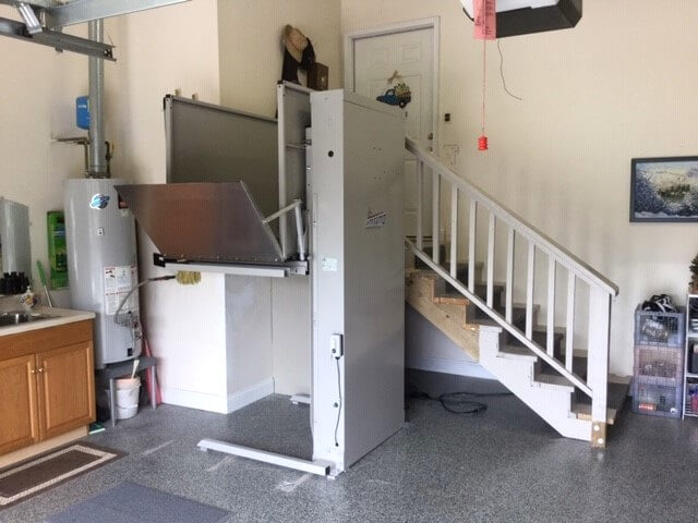 Dave Taylor and the Amramp Eastern TN team installed this Amramp Vertical Platform Lift at a home in Knoxville, TN.