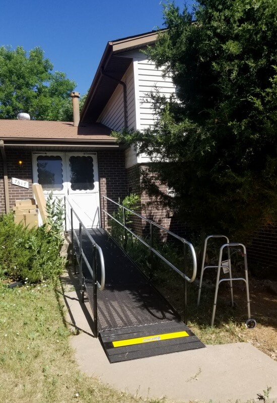 This Littleton, CO home is now outfitted with a wheelchair ramp installed by the Amramp Denver team.