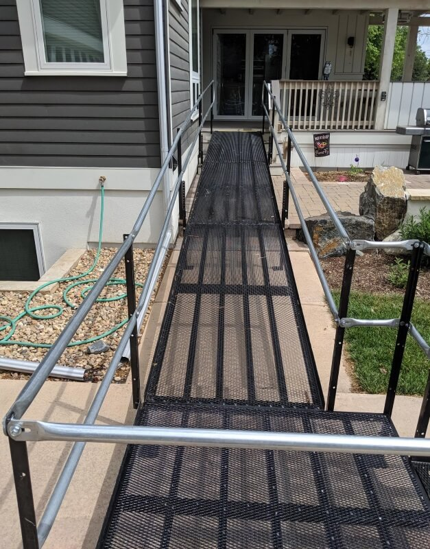 The Amramp Denver team installed this wheelchair ramp at this beautiful Louisville, CO home.