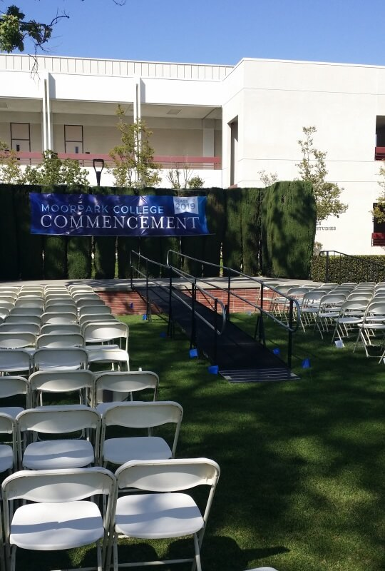 Brett McKee and the Amramp LA team installed this wheelchair ramp for Moorpark College's graduation.
