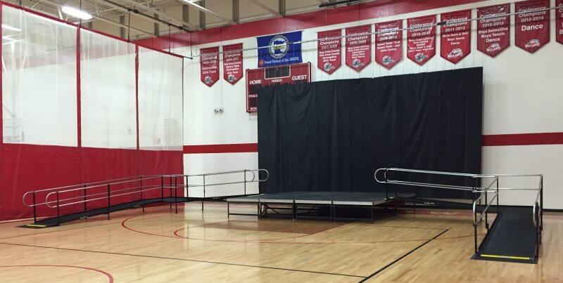 Doug Pumarlo and the Amramp Minnesota team installed these wheelchair ramps for Mound Westonka High School's graduation.
