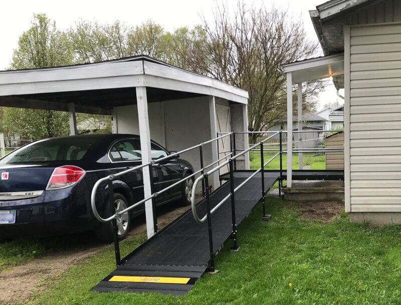 The Amramp Indiana team installed this wheelchair ramp in Muncie, IN.
