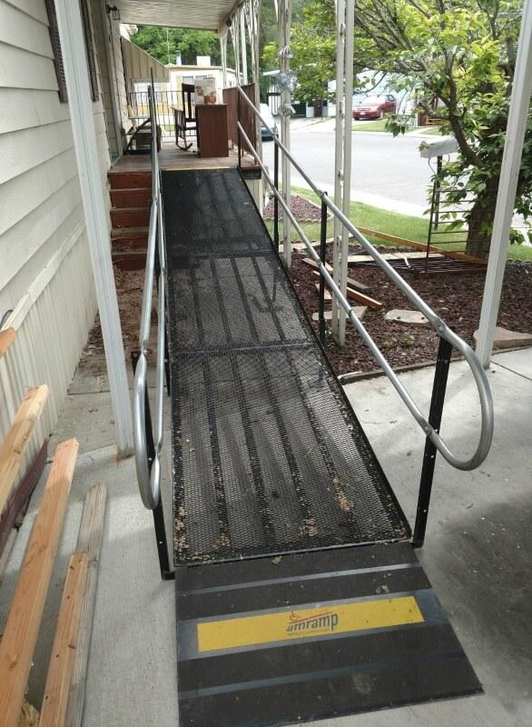 This ramp was installed in Murray, UT by the Amramp Utah team.