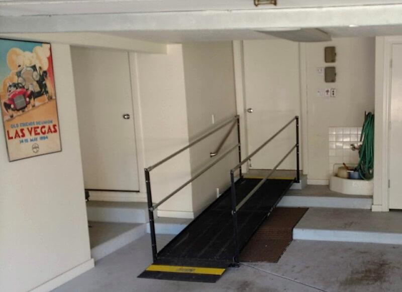 This ramp was installed in a garage in Murray, UT by the Amramp Utah team.
