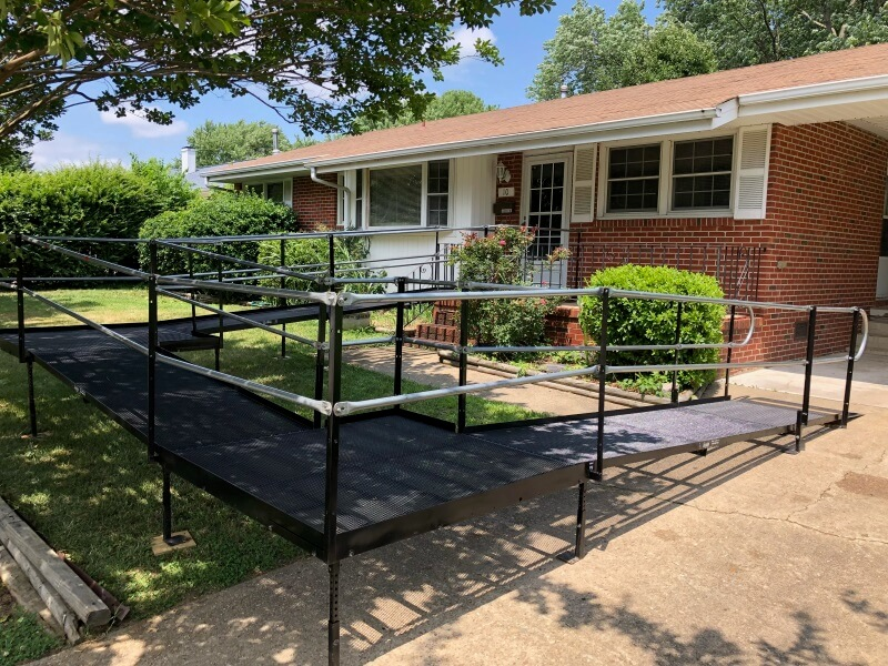 This was an ADA compliant ramp relocation for an existing Sentara PACE program participant who had recently moved to Newport News, VA.