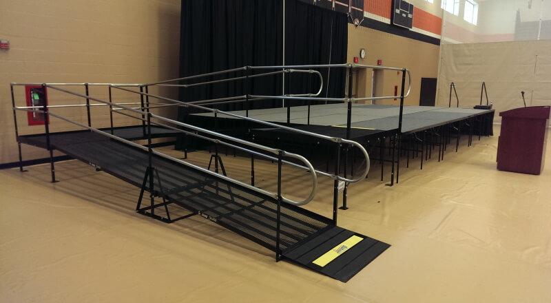 Amramp Minnesota installed this wheelchair ramp for New Richmond High School's graduation in New Richmond, WI.