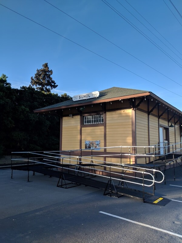 The Amramp Northern CA team installed this wheelchair ramp at the Niles Canyon Railway Museum in Fremont, CA.