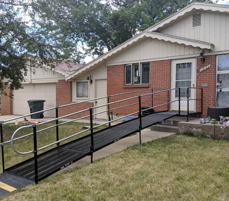 This Northglen, CO home is now accessible with a wheelchair ramp installed by Amramp Denver.