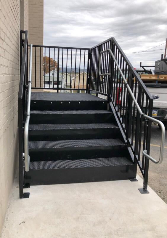 Dave Hoglund and the Amramp NE PA & Central NJ team installed these stairs at a commercial building in Pennsylvania.