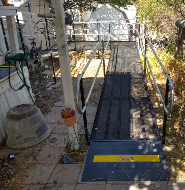 This Pahrump, NV home is now outfitted with a wheelchair ramp thanks to the Amramp Utah team.