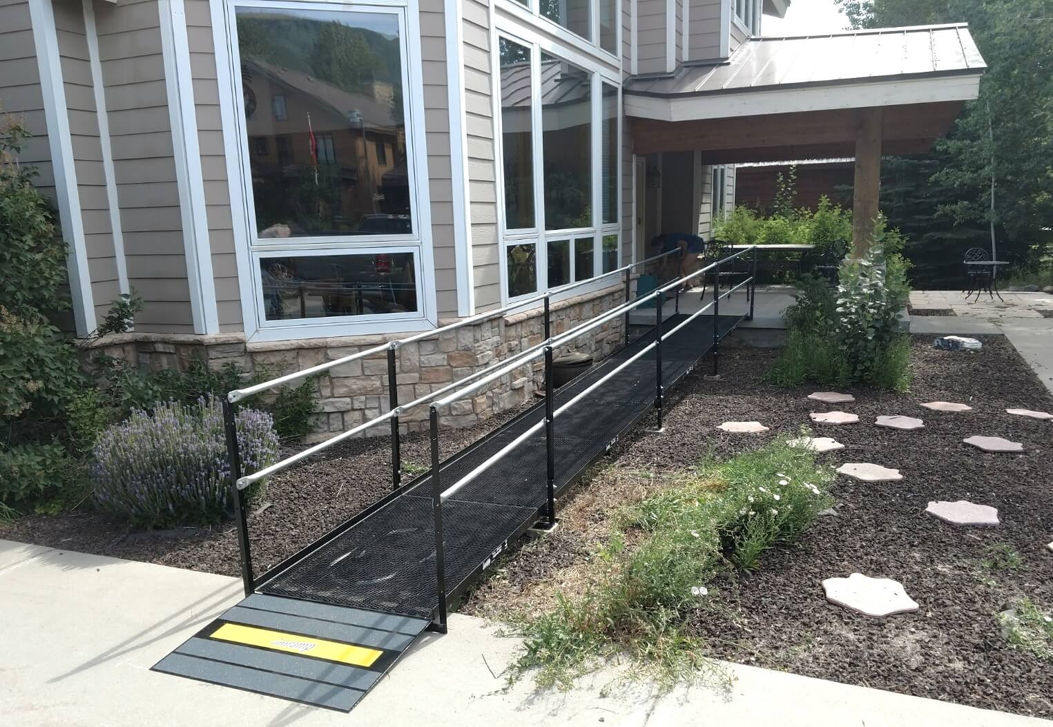The Amramp Utah team installed this ramp at a home in Park City, UT.