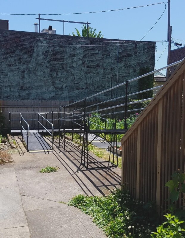 Dave Yoast and the Amramp Portland team installed this wheelchair ramp for a patient in Portland, OR.