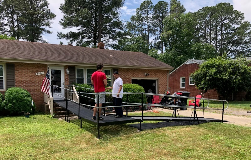 This ADA compliant ramp was installed for a Sentara PACE program participant in Portsmouth, VA, allowing the patient the ability to attend medical appointments and to take advantage of the social opportunities the program offers.