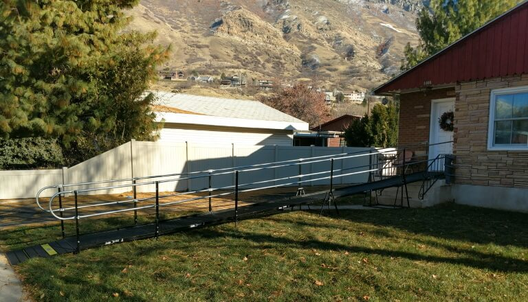This home in Reno, NV is now wheelchair accessible thanks to Amramp Utah.