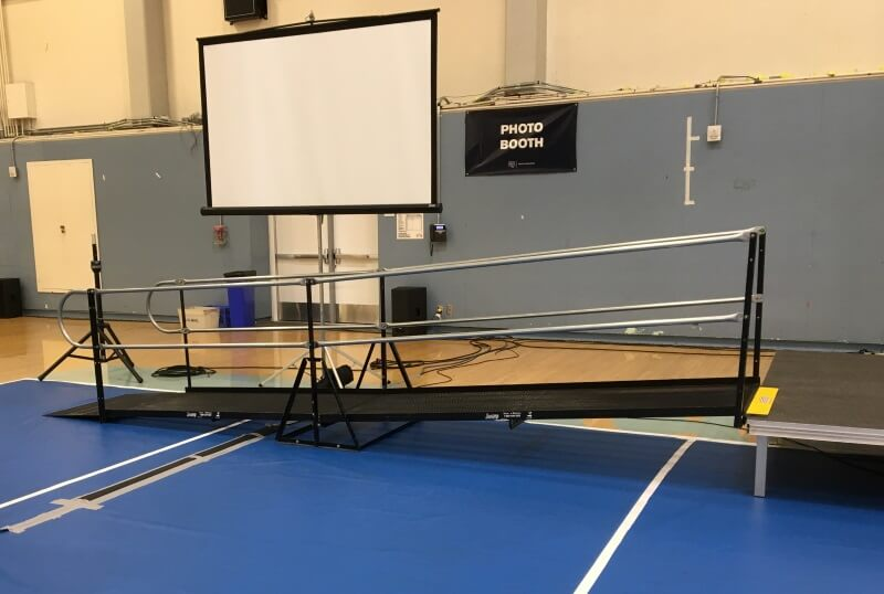 Brett McKee and the Amramp LA team installed this wheelchair ramp for the Santa Monica Community College's graduation.