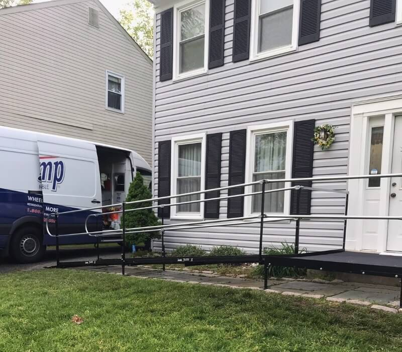 Amramp of Washington, DC installed this ramp in a matter of days for a client in Silver Spring, MD.
