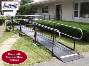 Front entrance steel ramp