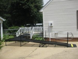 Amramp steel ramp providing residential access