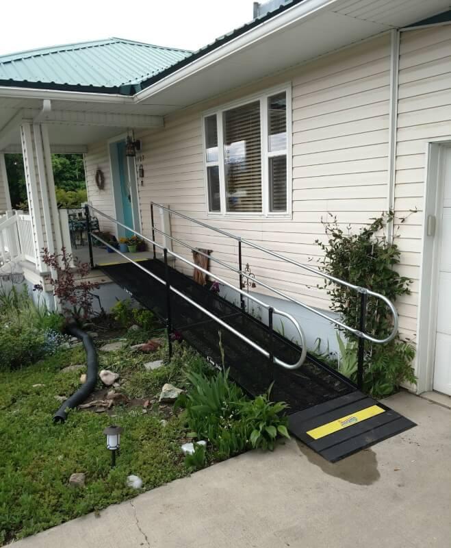 This Smithfield, UT home now has a wheelchair ramp from the Amramp Utah team.