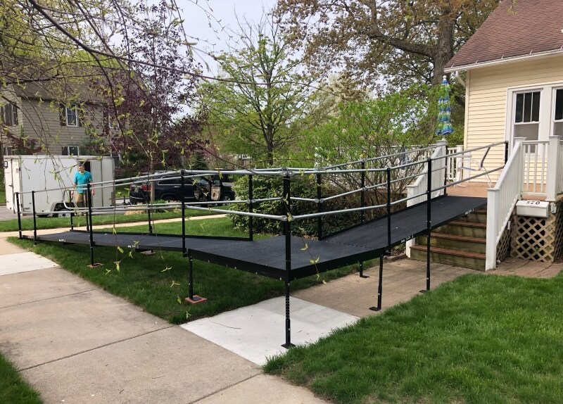 Amramp of Western Michigan installed this wheelchair ramp for a very happy client in South Haven, MI.