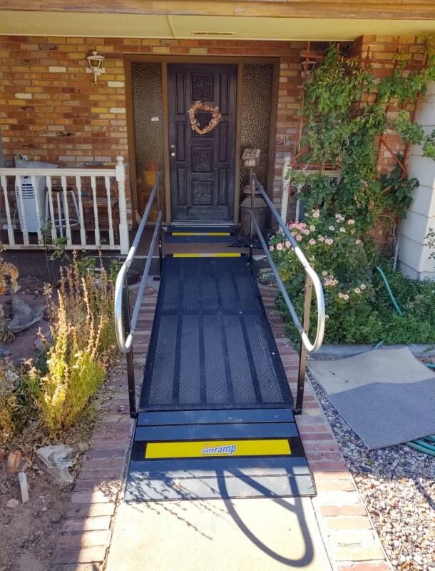 The Amramp Utah team installed this ramp in this St. George, UT home.