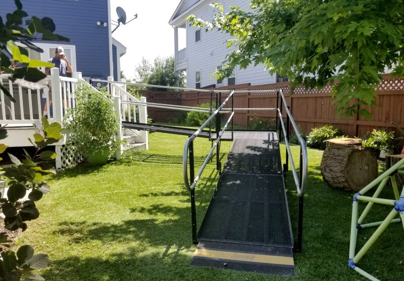 The Amramp Denver, CO team installed this ramp in a matter of days for a last minute need in Stapleton, CO.