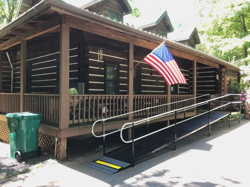 Amramp of NE-PA installed this modular wheelchair ramp at this Stroudsburg, PA home.