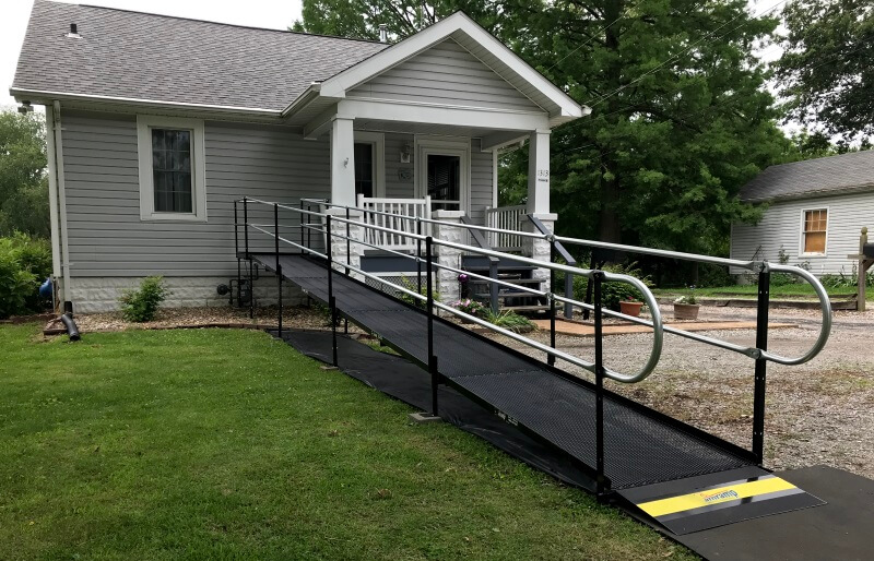 Brian Randolph and the Amramp St. Louis team installed this wheelchair ramp in Swansea, IL.