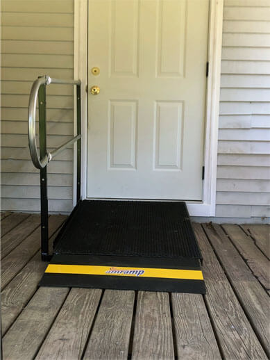 Amramp of Birmingham, AL traveled to Tallassee, AL to install this ramp at the entrance of this customers home. Amramp is proud to provide a variety of accessibility solutions for our customers in order to best suit their lifestyle