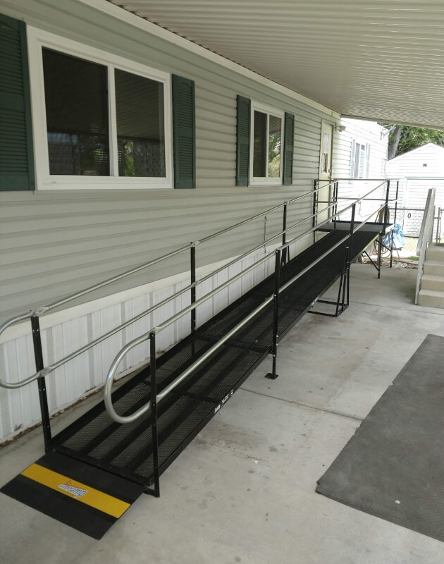 This Taylorsville, UT home was recently outfitted with a wheelchair ramp from Amramp.