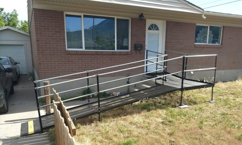 The Amramp Utah team installed this wheelchair ramp in Tooele, UT.