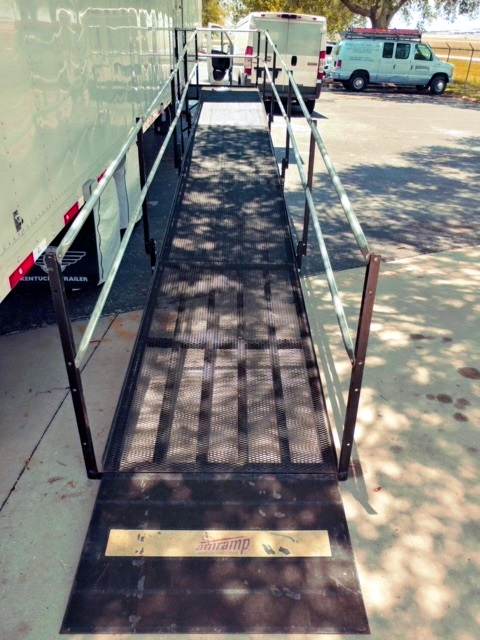 Debbie and the Amramp Tampa team installed this wheelchair ramp in a mobile trailer in just two hours!